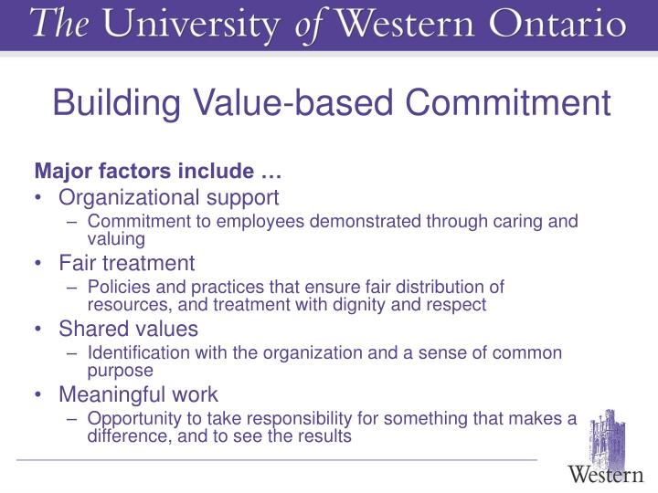Building Value-based Commitment
