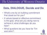 data dialogue decide and do
