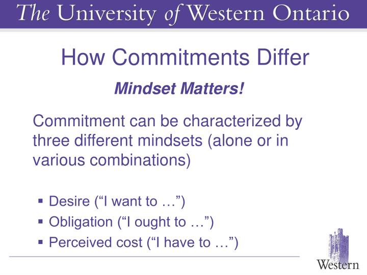 How Commitments Differ