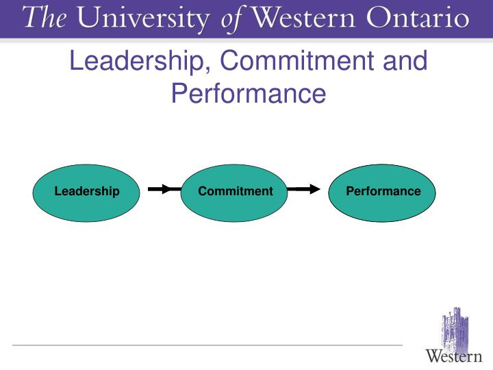Leadership, Commitment and Performance