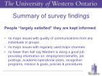 summary of survey findings1