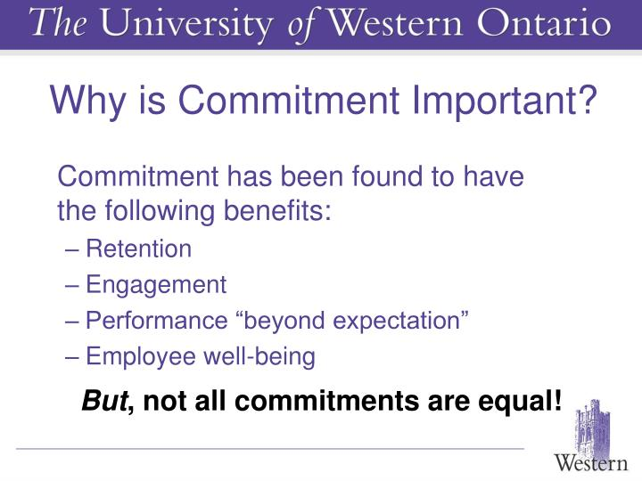 Why is Commitment Important?