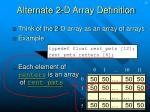 alternate 2 d array definition