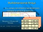 multidimensional arrays14