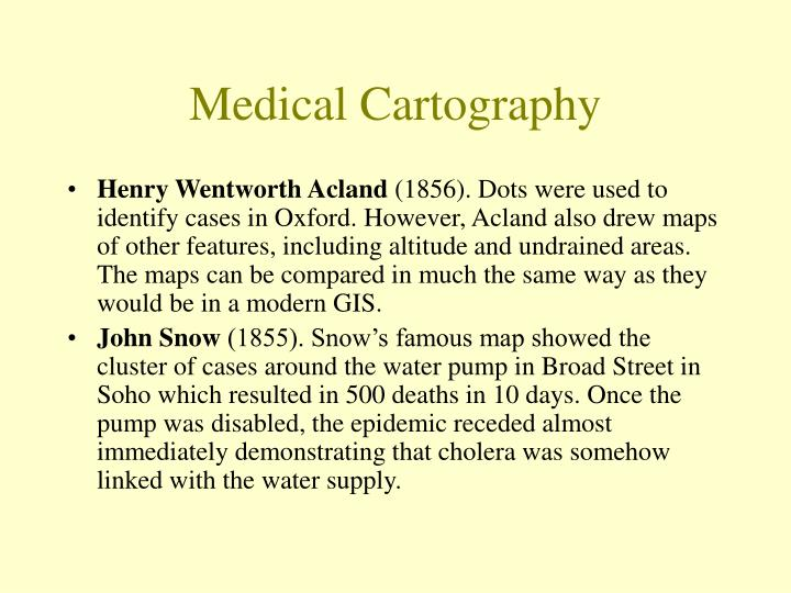 Medical Cartography