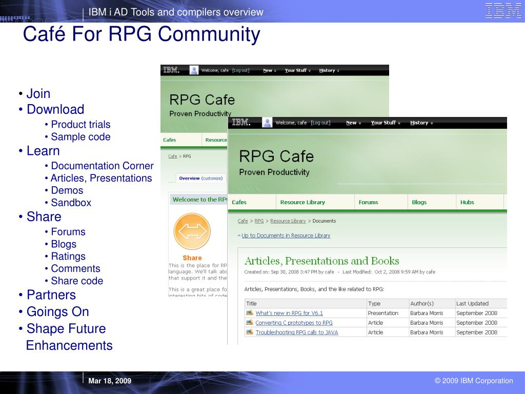 Café For RPG Community