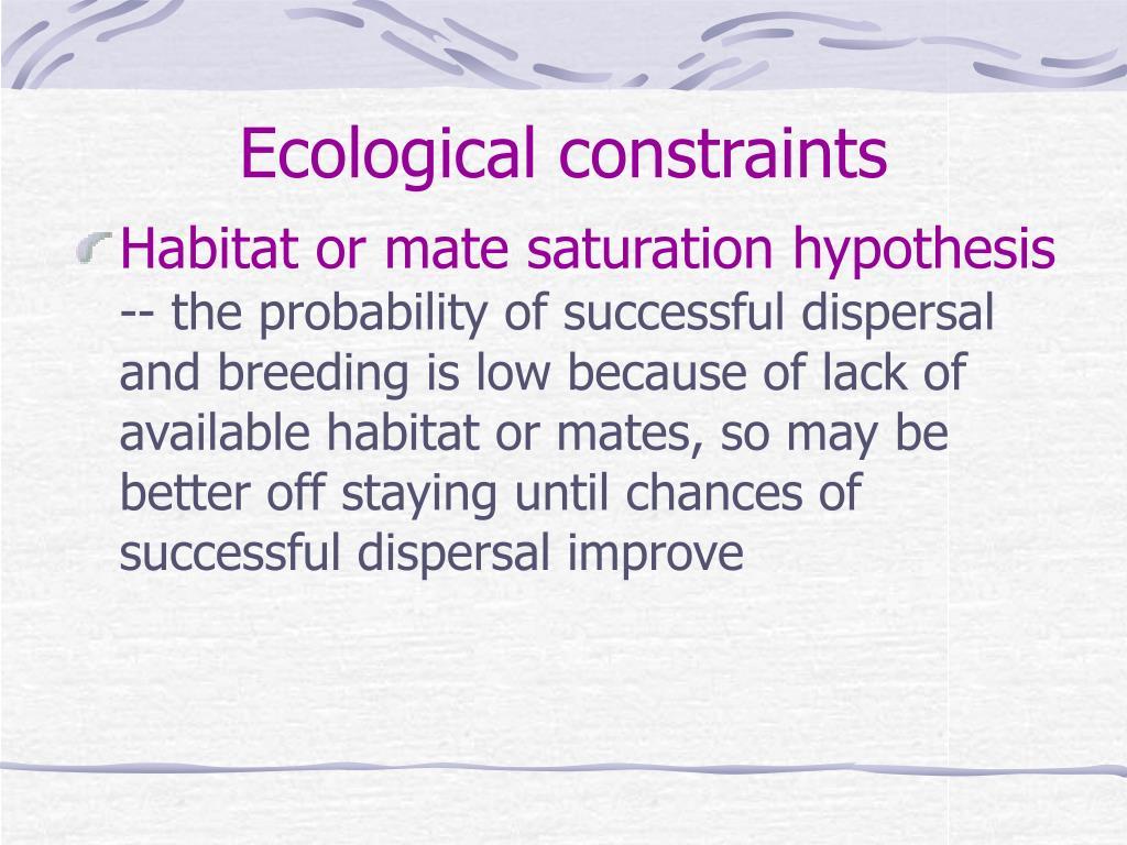 Ecological constraints