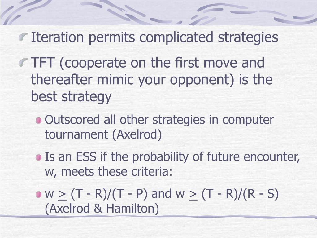 Iteration permits complicated strategies