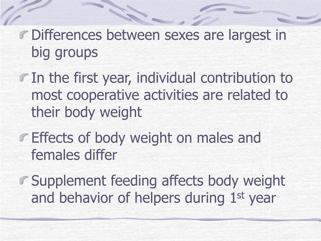 Differences between sexes are largest in big groups