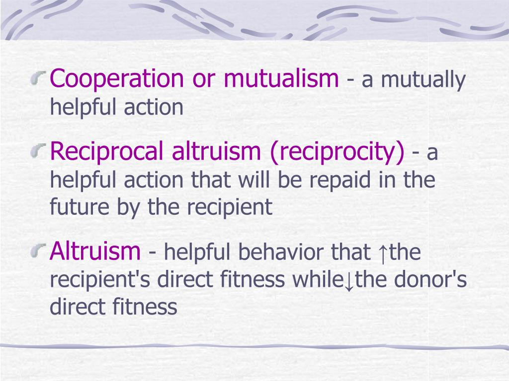 Cooperation or mutualism