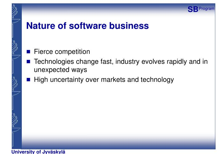 Nature of software business