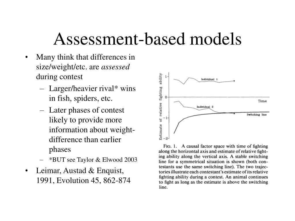 Assessment-based models