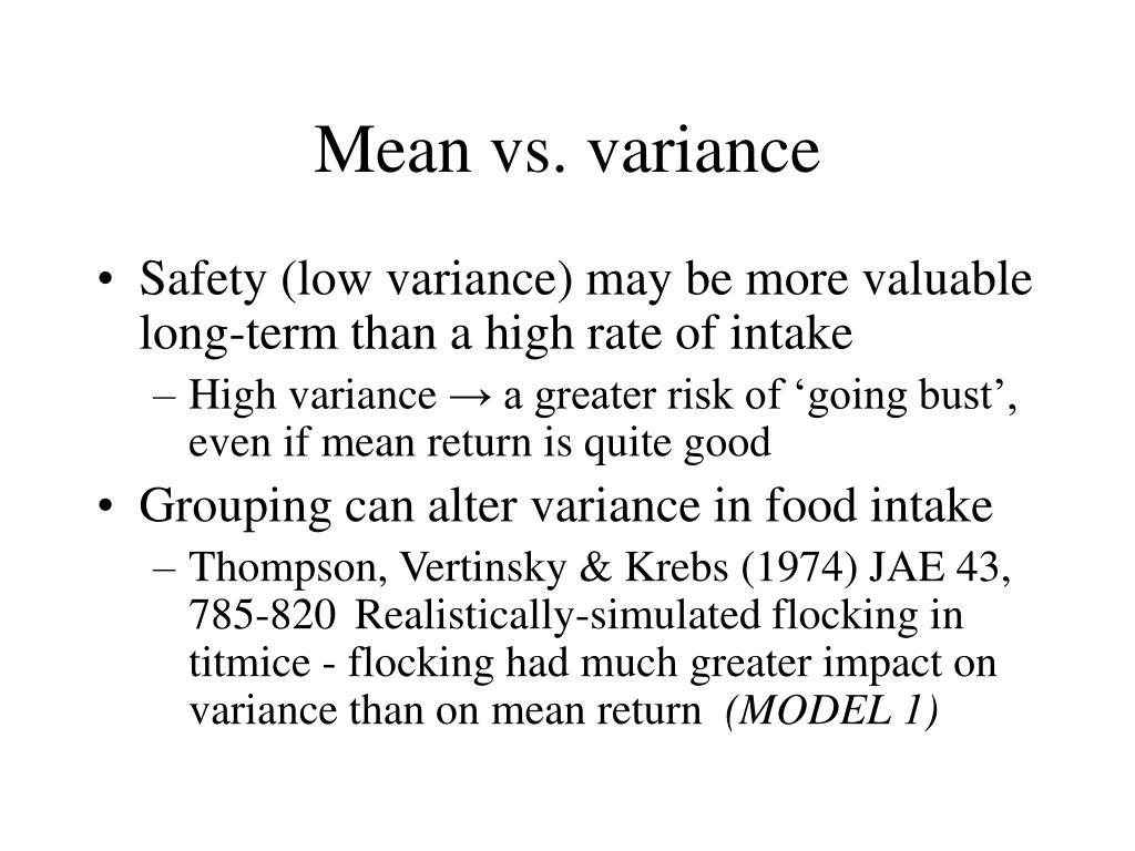 Mean vs. variance