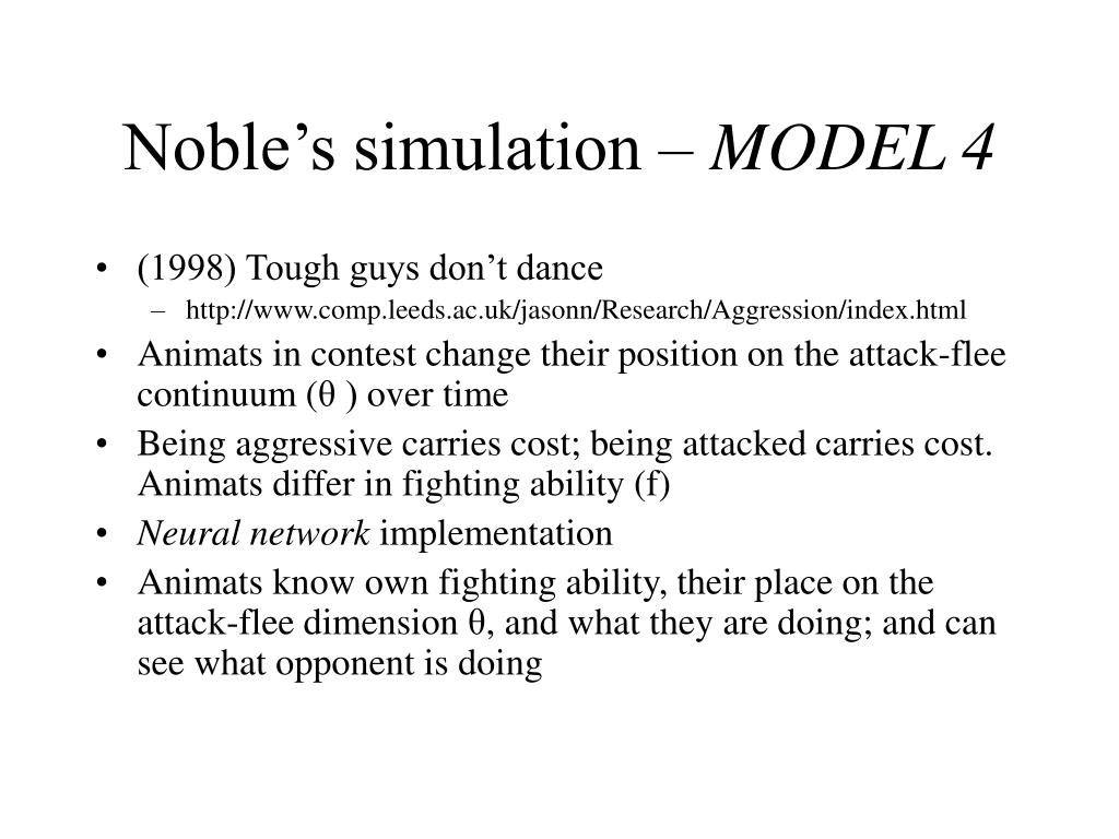 Noble's simulation –