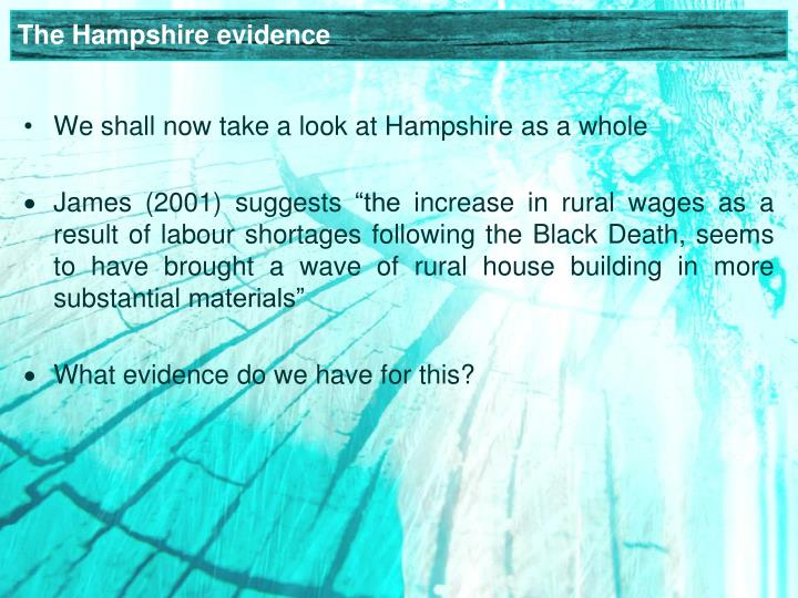 The Hampshire evidence