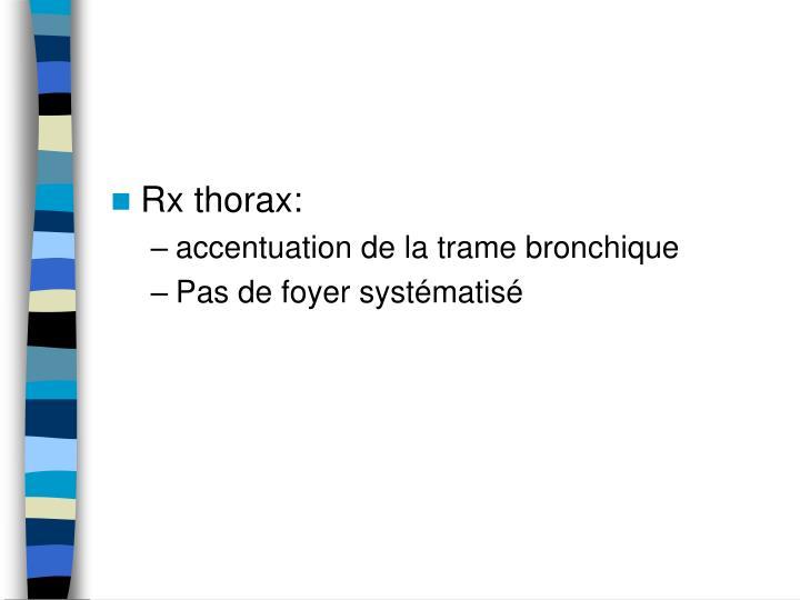 Rx thorax: