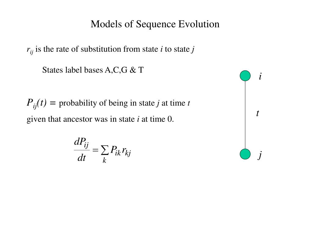 Models of Sequence Evolution