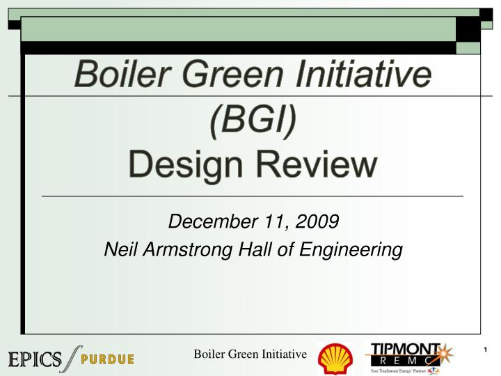 Boiler green initiative bgi design review