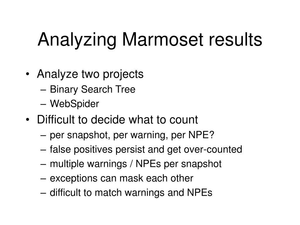 Analyzing Marmoset results