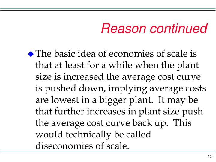 Reason continued