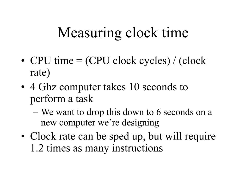 Measuring clock time