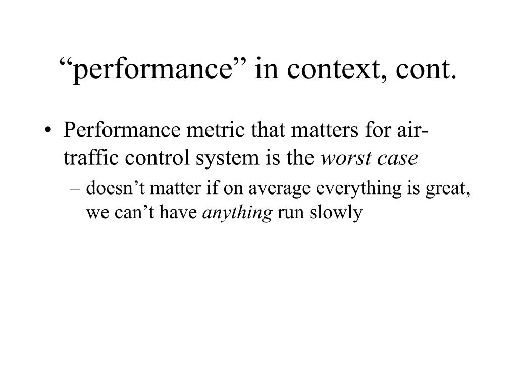"""performance"" in context, cont."