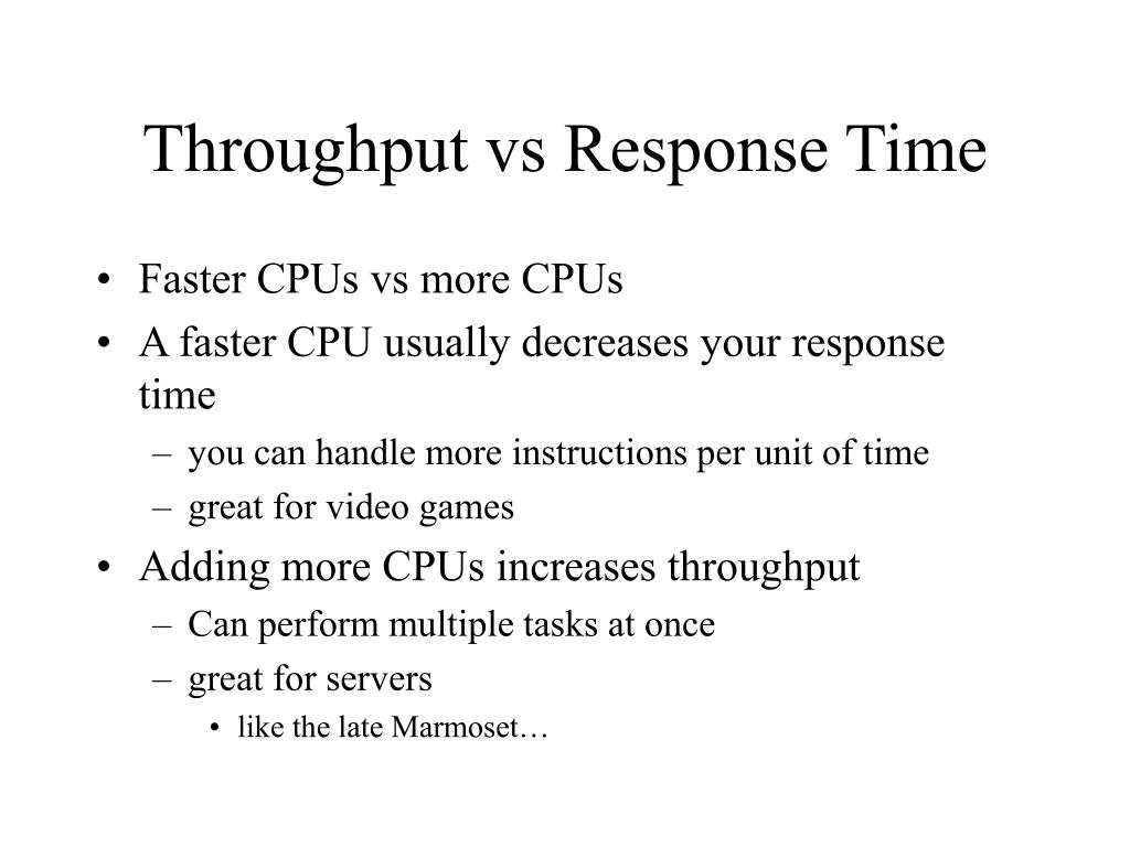 Throughput vs Response Time