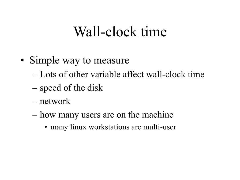 Wall-clock time