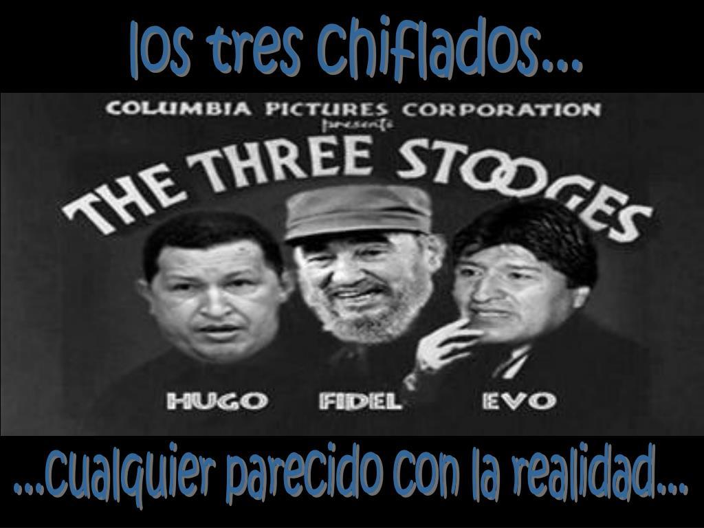 los tres chiflados...