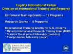 fogarty international center division of international training and research