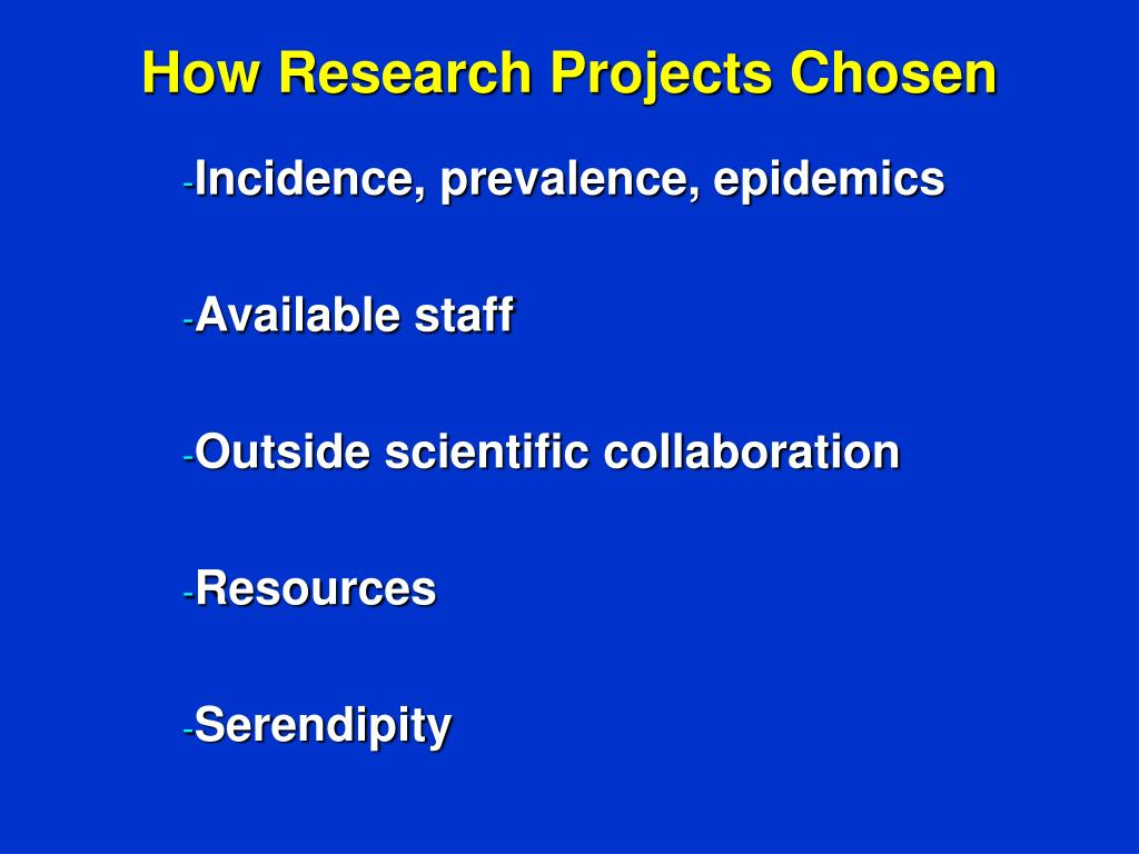 How Research Projects Chosen