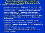 recent national institutes of health and government of panama collaborations 3