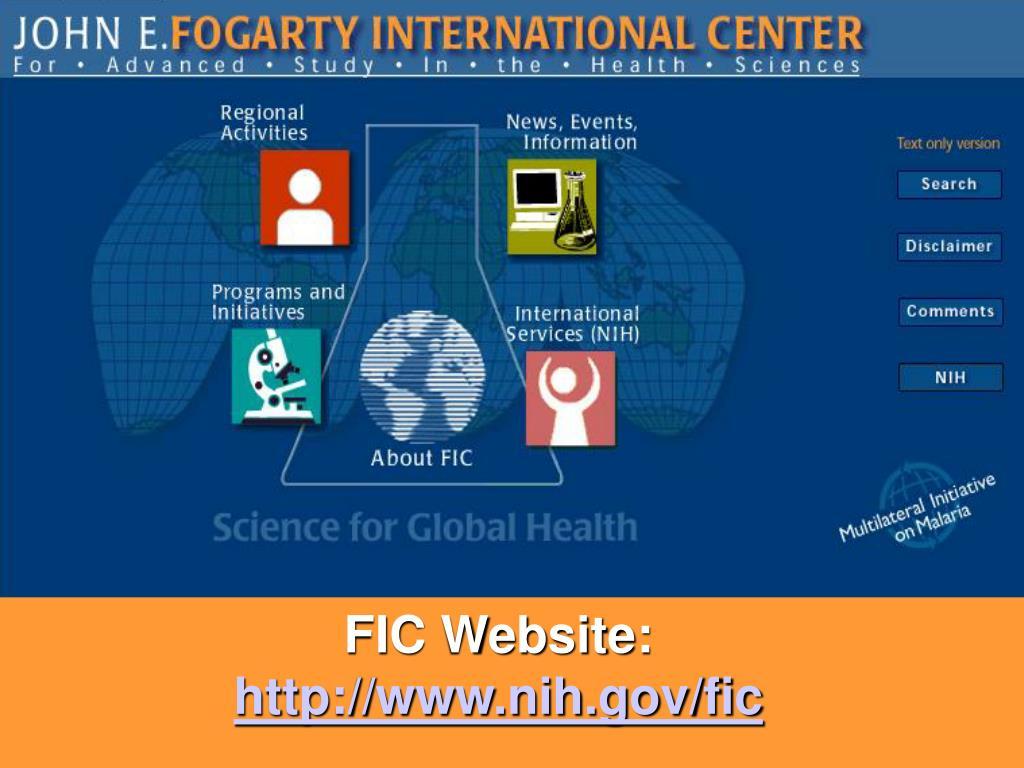FIC Website: