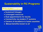 sustainability in fic programs36