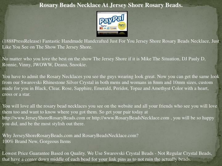 Rosary Beads Necklace At Jersey Shore Rosary Beads.