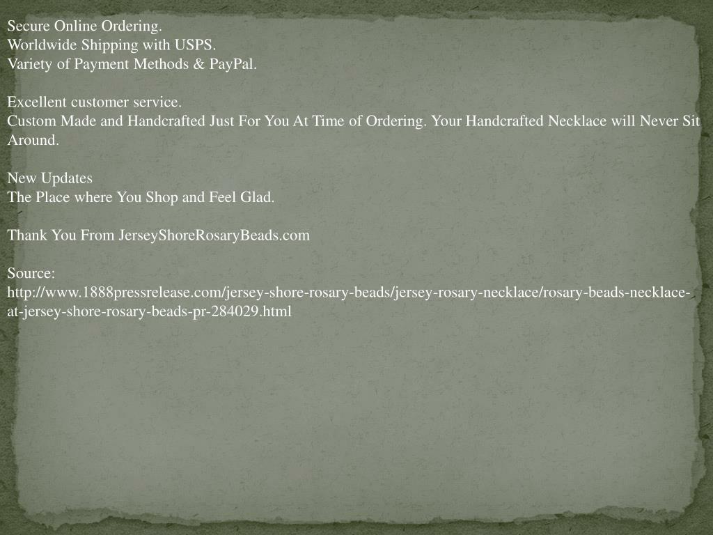 Secure Online Ordering.