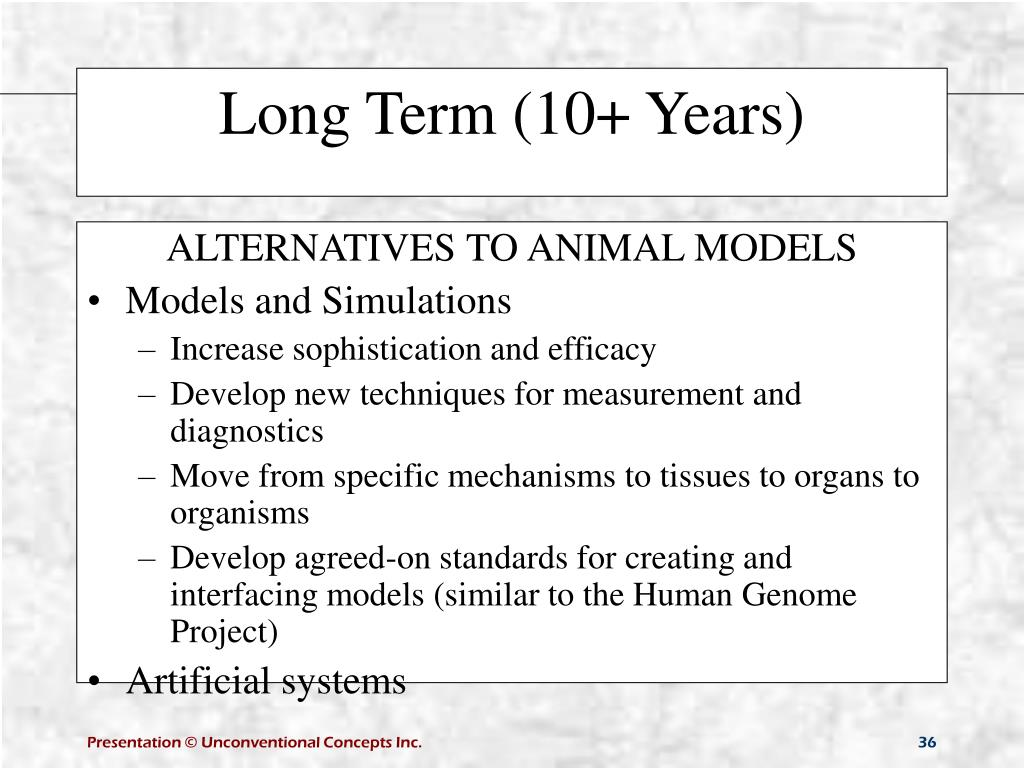 ALTERNATIVES TO ANIMAL MODELS