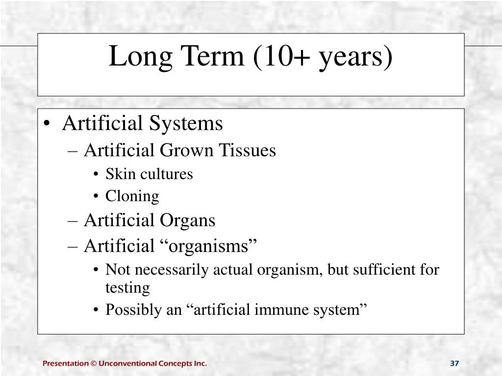Artificial Systems