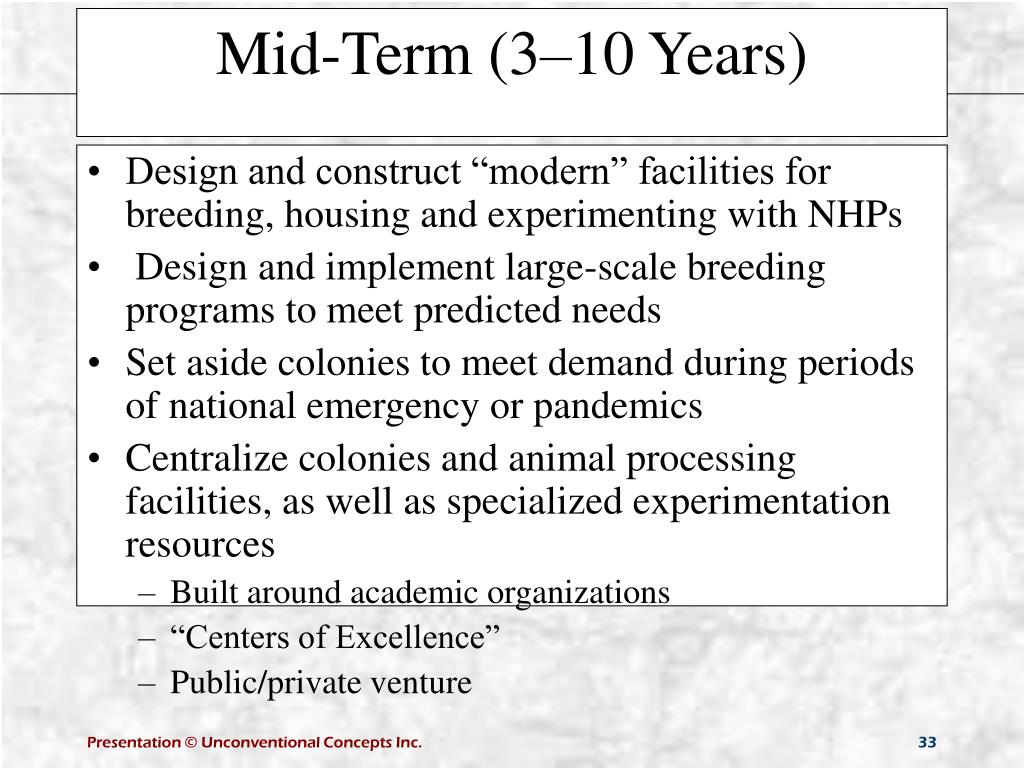 "Design and construct ""modern"" facilities for breeding, housing and experimenting with NHPs"