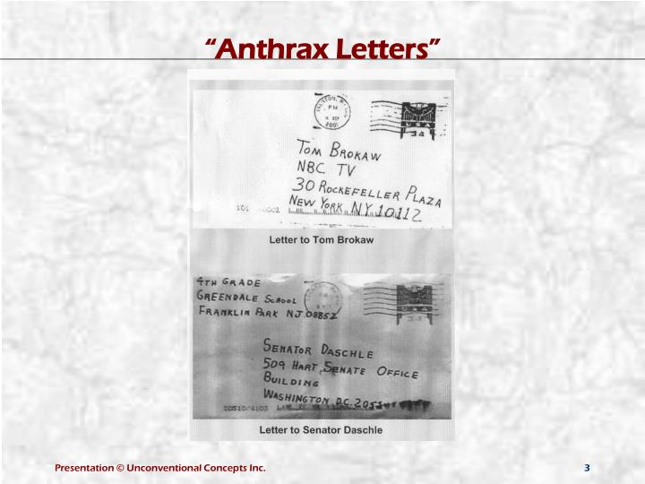 """Anthrax Letters"""