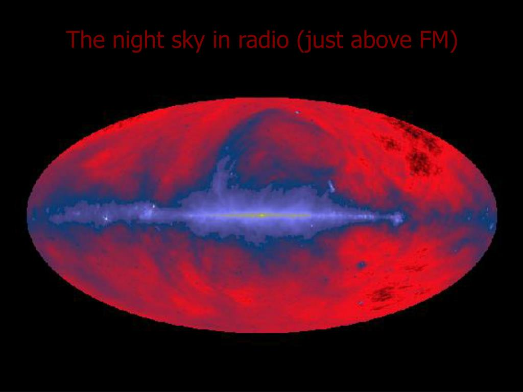 The night sky in radio (just above FM)