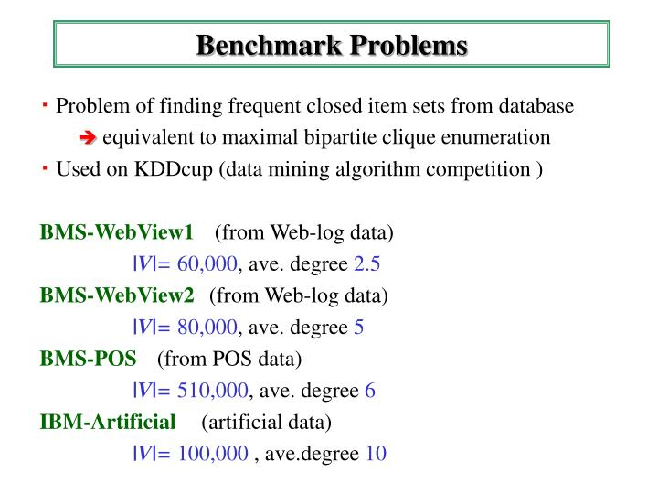 Benchmark Problems
