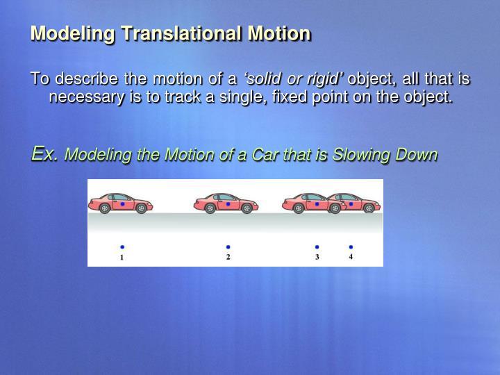 Modeling Translational Motion