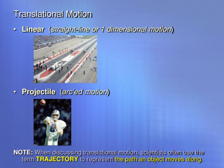 Translational Motion