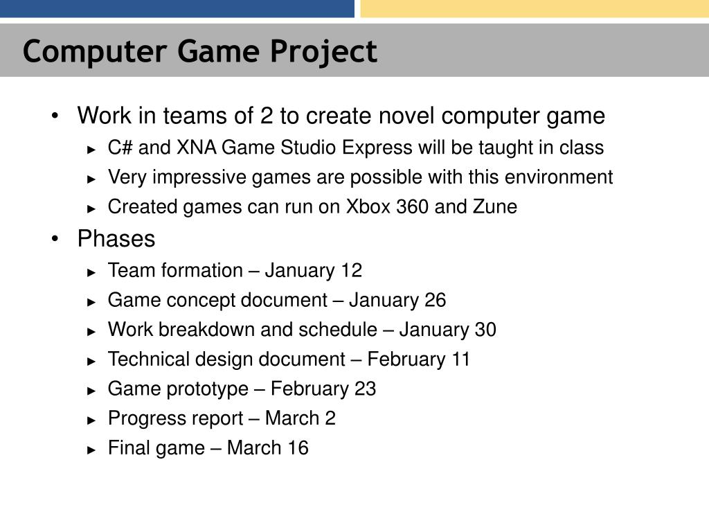 Computer Game Project