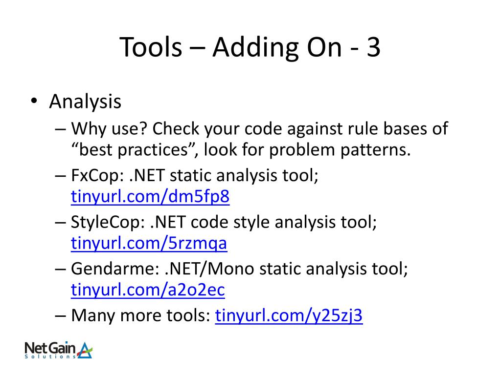 Tools – Adding On - 3