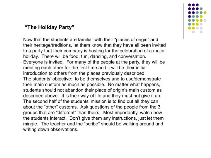 """The Holiday Party"""