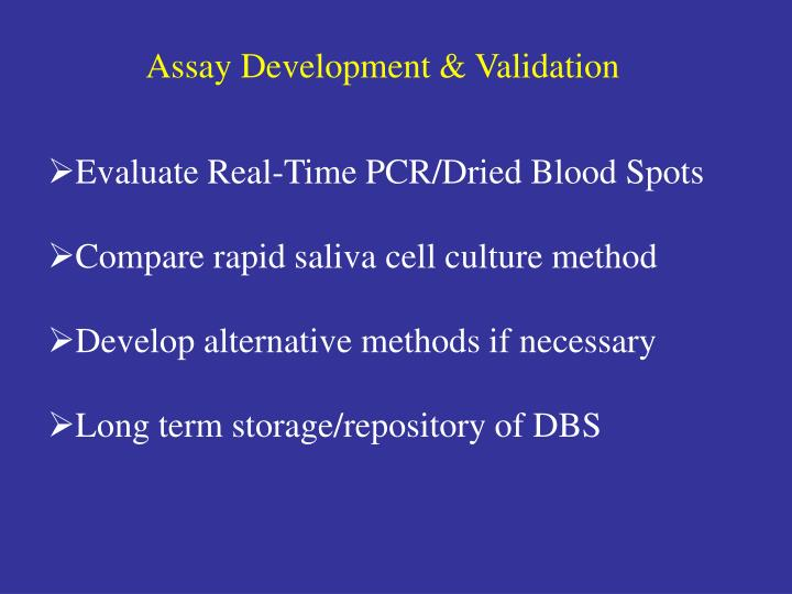 Assay Development & Validation