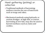 hand gathering picking or collection