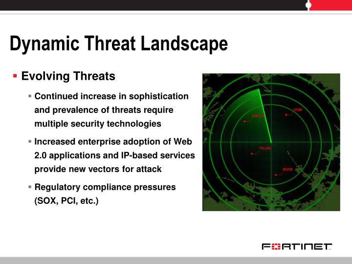 Dynamic Threat Landscape